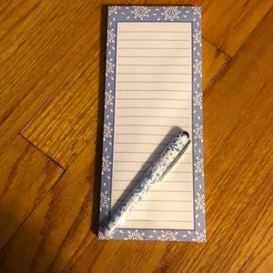 🛍 5/$25 Snowflake notepad with pen